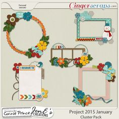 Project 2015 January - Cluster Pack from Designs by Connie Prince January 2015
