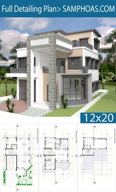 Modern House Plan 9x14.5m With 4 Bedrooms - SamPhoas Plansearch