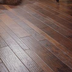Virginia Vintage Random Width Engineered Walnut Flooring in Black   Wayfair