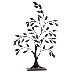Black Large Metal Olive Tree