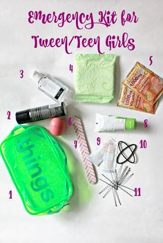Emergency Kit for Tween/Teen Girls. Perfect kit for girls to carry in their backpacks daily. Prepared girls are confident girls! #40Pounds #ad @walmart