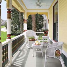 Exquisitely painted front porch. | Nathan Kirkman Photo: | thisoldhouse.com