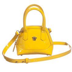 Young Versace Yellow Patent Leather Handbag (15cm) at Childrensalon.com