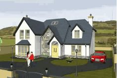 House Designs Ireland, Dormer Bungalow, Self Build Houses, House Outside Design, Villas, Building A House, Irish, House Plans, Exterior