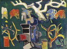 Édouard Pignon (French, 1905-1993), Les Vendanges [Harvest], 1954. Oil on…