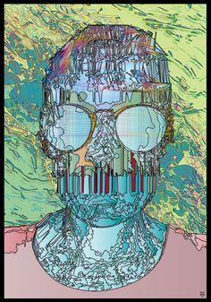 ZUEOKO380 #digital #graphic #art #digitalart #graphicart Graphic Art, Digital Art, Skull, Skulls