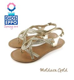 GOLD SPIRIT!    Las sandalias de piel MOLDAVA serán tus aliadas perfectas para las noches más especiales de verano // MOLDAVA leather sandals will be your best ally to your special summer nights.    Click & Shop > http://shoponline.gioseppo.com/es/catalogo/producto/mujer/12389/moldava/