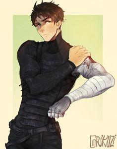 The Winter Soldier: Sousuke Yamazaki by grykuzi on DeviantArt http://vml1212.deviantart.com/art/The-Winter-Soldier-Sousuke-Yamazaki-478856988