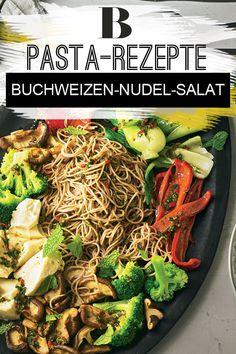 Nudeln: Pasta: Über 100 Rezepte - einfach köstlich. Buchweizennudeln sind gesund und lecker – daher verarbeiten wir sie in einem köstlichen und dazu auch noch veganen Gericht mit asiatischer Note und frischer Minze. Zum Rezept: Buchweizen-Nudel-Salat mit Seidentofu.