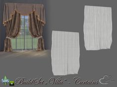 Your Sims love a luxury lifestyle? Found in TSR Category 'Sims 4 Curtains & Blinds'