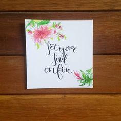 Set Your Soul On Fire.  #calligraphy #calligraphymy #moderncalligraphy #handwriting #type #font #words #thoughts #dailytype #quote #life #beauty #motivation #positivevibes #steno #watercolor #flowers #instaART