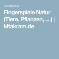 Fingerspiele Natur (Tiere, Pflanzen, ....)   kitakram.de