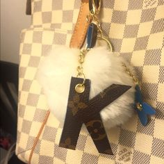 53c92d565b9 Upcycled Louis Vuitton BagCharm with Pom pom Made of 100% authentic Louis  Vuitton