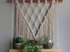 Hottest Photo Macrame Patterns design Style Find out all you need to find out to generate breathtaking macrame projects. Macrame Plant Hanger Patterns, Macrame Wall Hanging Patterns, Macrame Plant Hangers, Macrame Patterns, Hanging Plant Diy, Macrame Wall Hangings, Large Macrame Wall Hanging, Macrame Design, Macrame Art
