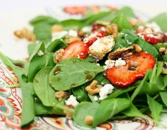 Strawberry Feta Salad. Substitute blue cheese and almonds for variety.