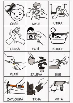 Для настройки действий в черно-белом Special Education Behavior, Picture Composition, Hygiene, Matching Games, Pictogram, Speech Therapy, Fun Learning, Activities For Kids, Language