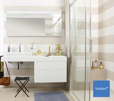 Het wastafelmeubel uit de Edition 400 serie van Keuco is ook voor rolstoelgebruikers toegankelijk door de ruimte onder het meubel. Extra comfort & veiligheid in uw badkamer!