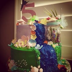 Tinker Bell and Silver Mist themed Happy Birthday Cake