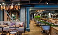 Murakami in London | Restaurant Interior Design Ideas. Restaurant Lighting Ideas. Restaurant Dining Chairs. #restaurantinterior #restaurantinteriors www.brabbucontract.com