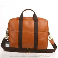 73a5b82524fc 2014 Mulberry Mens Leather Laptop Briefcase Light Coffee Outlt Black Friday Mulberry  Outlet