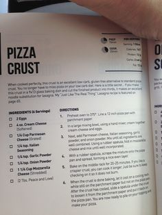 Low carb pizza crust. Thank God!!  I thought Stephen was gonna die when I told him I couldn't have pizza anymore.
