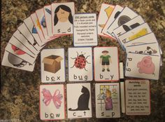 PHONICS CVC 24 CARDS+VOWELS 3 LETTER WORDS TEACHING RESOURCE FOR KS1 + Autism