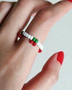 Seed Bead Jewelry, Bead Jewellery, Cute Jewelry, Beaded Jewelry, Handmade Wire Jewelry, Handmade Bracelets, Beaded Rings, Beaded Bracelets, Fimo Ring