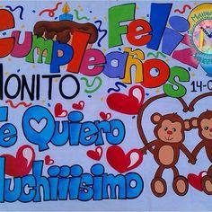 Ideas Para Fiestas, Love Gifts, Birthday Decorations, Boyfriend Gifts, Smurfs, Coloring Books, Bff, Birthdays, Lettering
