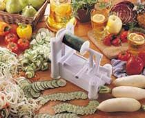 Amazon.com: Paderno World Cuisine A4982799 Tri-Blade Plastic Spiral Vegetable Slicer: Kitchen & Dining