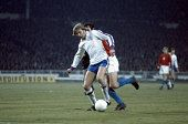 Colin Bell of England in action against Czechoslovakia during their European Championship Qualifying match at Wembley Stadium in London on 30th...