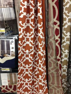 Earth Tone Curtains , For Living Room.        Those Deep Red Ones