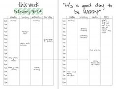 weekly planner and schedule download
