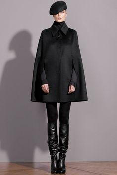 CELINE $2,195 black alpaca wool cape coat céline runway winter jacket 38-F/6 NEW #Celine #Cape