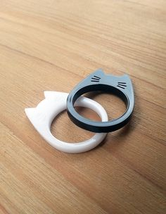 Cat Ring - Laser Cut Jewelry - Cute Animal Jewelry - Acrylic Ring - Statement Ring