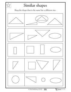 Printables Similar Shapes Worksheet similar shapes worksheet davezan collection of worksheets bloggakuten