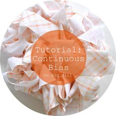 Learn how to make continuous bias tape. Save time!
