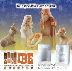 IDEAS FOR CHRISTMAS With this mould #chocolatiers can set up a #Nativity Scene carving a #pandoro and placing an angel with comet on on it and the #Holy Family figures around. This idea will certainly add a touch of allure to the pastry shop window.