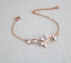 Rose gold bracelet Bridal bracelet Wedding jewelry Bridesmaid bracelet Crystal bangle bracelet Rhinestone bracelet Swarovski bracelet - *About style & accessories* - Joalheria Bridesmaid Bracelet, Wedding Bracelet, Rose Gold Jewelry, Rose Gold Earrings, Gold Jewellery, Gold Necklace, Chanel Jewelry, Hoop Earrings, Pendant Necklace