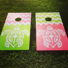 Delta Zeta Corn hole Boards!