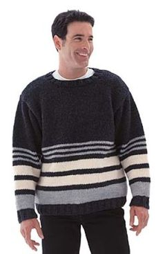 Striped Pullover Sweater - Easy