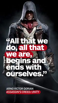 Assassins Creed Arno quote