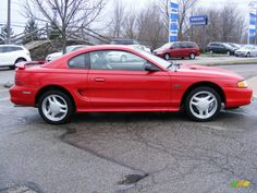 Rio Red 1995 Ford Mustang GT Coupe