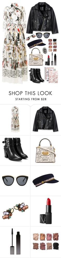 """All my thoughts about my cats."" by ytopia ❤ liked on Polyvore featuring Dolce&Gabbana, Nasty Gal, Le Specs, NARS Cosmetics, Serge Lutens, Illamasqua and VSA"