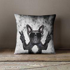 French Bulldog Pillow | Frenchie | Bulldog Pillow | French Bulldog Gifts | French Bulldog Art | Dog Pillow | Frenchie Pillow |