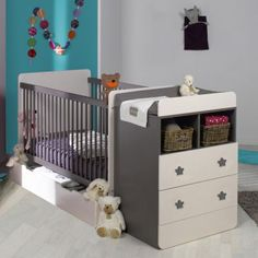 B b on pinterest - Lit bebe combine table a langer ...