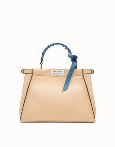 87847beadda1 FENDI PEEKABOO REGULAR - Pink leather bag - view 3 detail Nahkalaukku