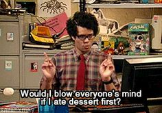 GIF, The IT Crowd and desserts. One of my favourite series