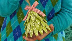 DIY unusual christmas tree, biscuit