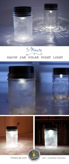 How to Make a 5 Minute Solar Night Light for Kids | Save Money | Help the Environment!