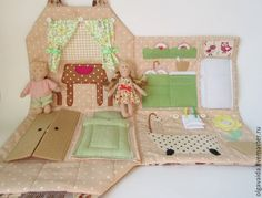 Soft-bag house fabric dolls with their own hands pattern